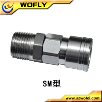 stainless steel hydraulic flat connector quick coupling