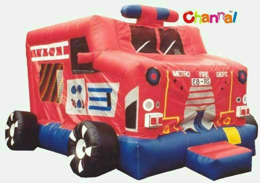 inflatable fire truck