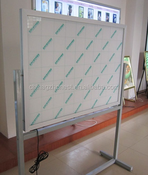 Vertical double sided led panel light advertising