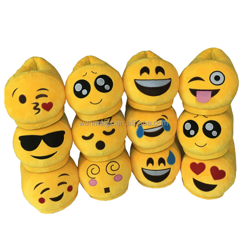 Popular Plush Winter Warm Indoor Soft Emoji <strong>Slippers</strong> For Adult <strong>Slipper</strong> Smiley Emoticon