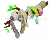 new style cute plush baby spiral pram toy