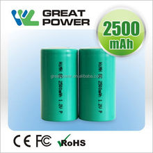 Designer hot selling 4000 mah rechargeable nimh battery