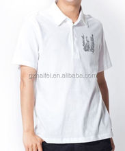 Wholesale High Quality Plain Sports 100% Cotton White Collar Men Polo T Shirt