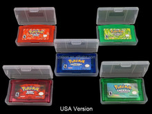Free Shipping by DHL for GBA Pokemon Emerald Leaf Green Fire Red Ruby Sapphire Games