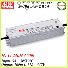 Meanwell HLG-240H-C700 700ma dimming led driver