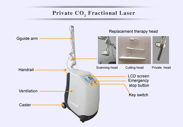 Handheld co2 laser fractional laser scanner machine