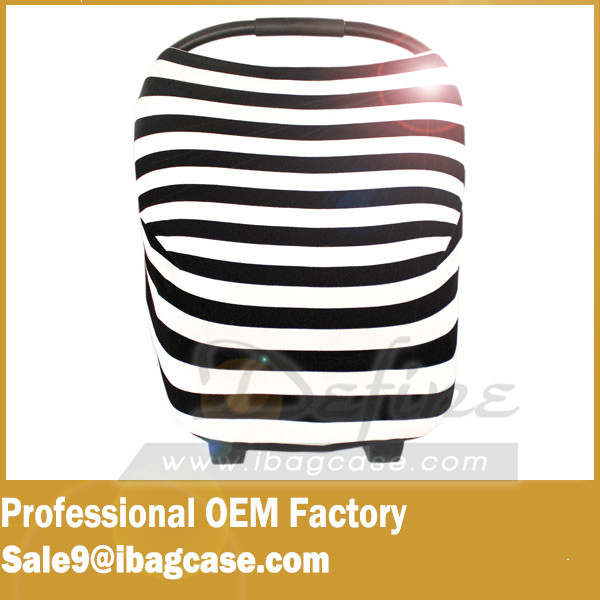 Hot selling fashion 3-in-1 Baby Car Seat Cover Canopy and Nursing Cover