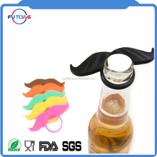 New FDA/LFGB silicone colorful mustaches custom promotional gift
