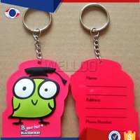 Custom made rubber keychains for promotional gifts
