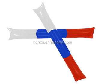 Russia fan PE inflatable thunde stick russian cheering bang bang stick