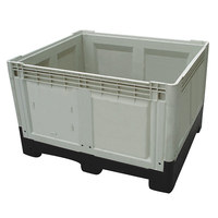 1200X1000X810 Fruit and vegetable storage and distribution large foldable pallet containers