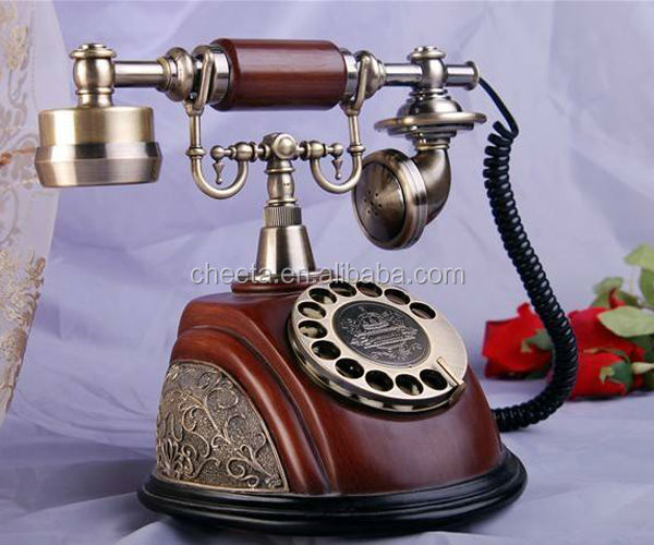 wooden old model fashion telephone