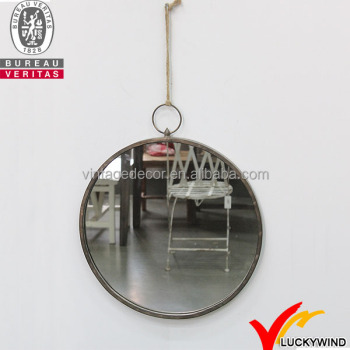 Antique Round Handmade Smart Metal Wall Mirror For Home Decoration