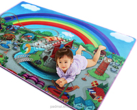 wholesale baby products, padding non-toxic baby mat, non-slip playmats printed rainbow