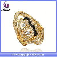 newest arrival! fashionable design 18k gold plated indian ladies gold finger ring RGPR291