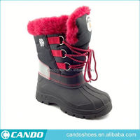 Latest Style Beautiful Pu Kids Shoes Unique Winter Boots