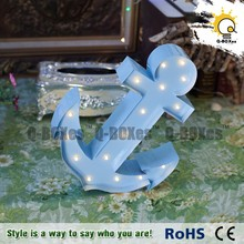 anchor sign light for home decor