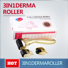 Hot selling stainless steel derma roller set 3 in 1