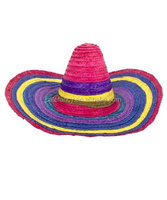 Cheap wholesale Large Sombrero Hat Mexico Fancy Dress Costume Party Straw cowboy hat QHAT-2082