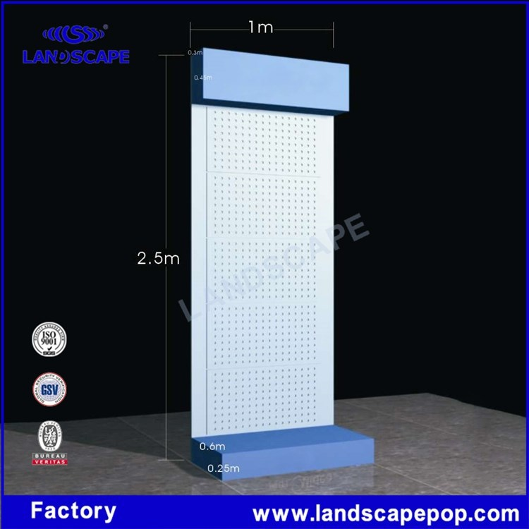Supermarket air conditioning metal display rack for sale