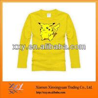Kids Pikachu Costume T shirts For Children Yellow Making