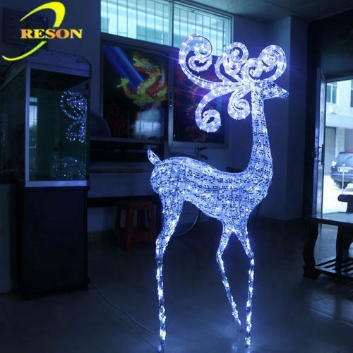 Holiday lighting human body sculpture