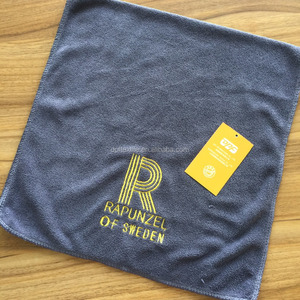 Spa Salon Hair Microfiber Towel with embroidery logo