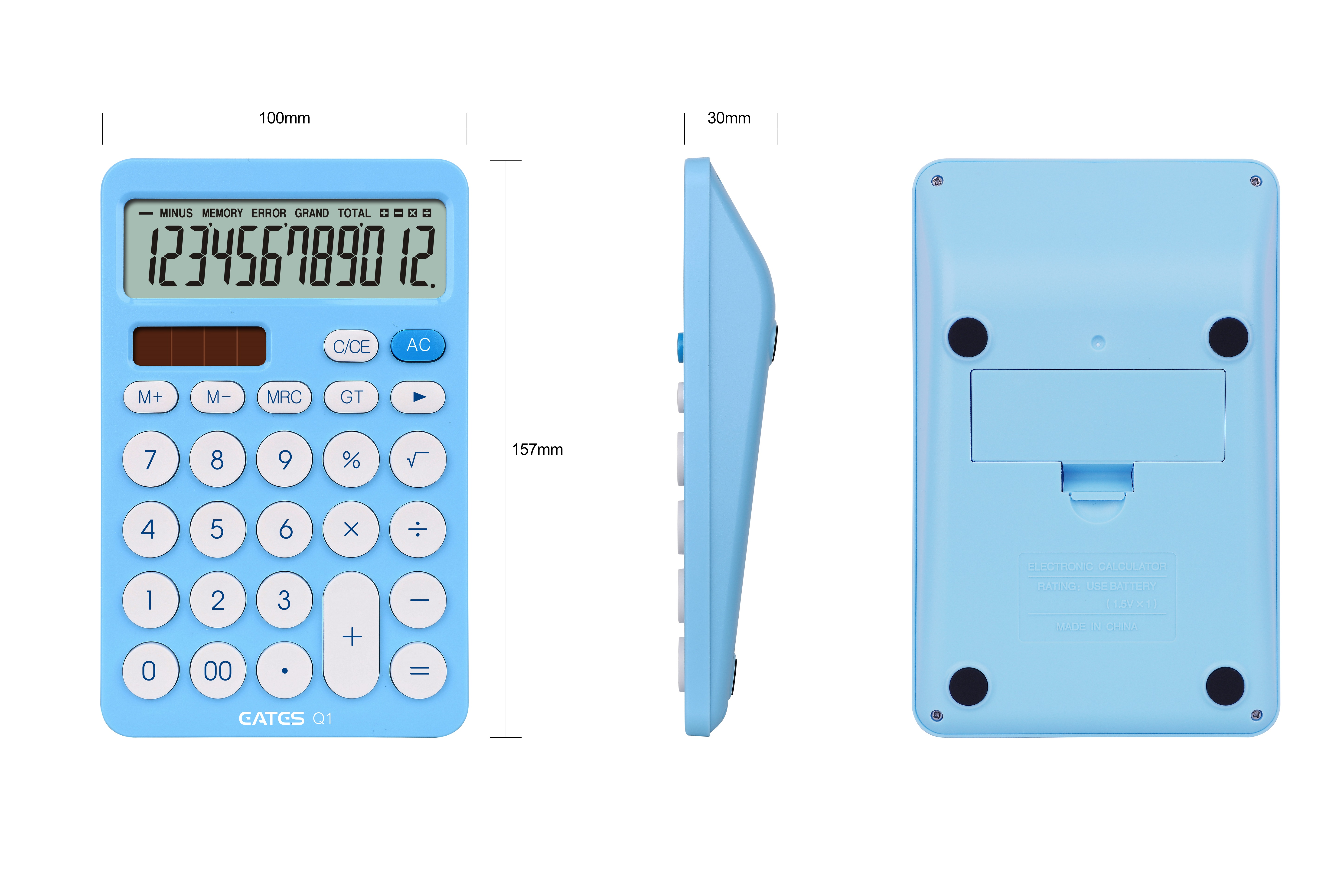 EATES Colorful Promotional and gift basic solar calculator lcd display 12'' digits