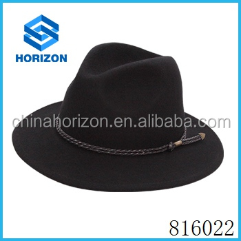 fedora indiana jones hat, 100% pure wool hat sample