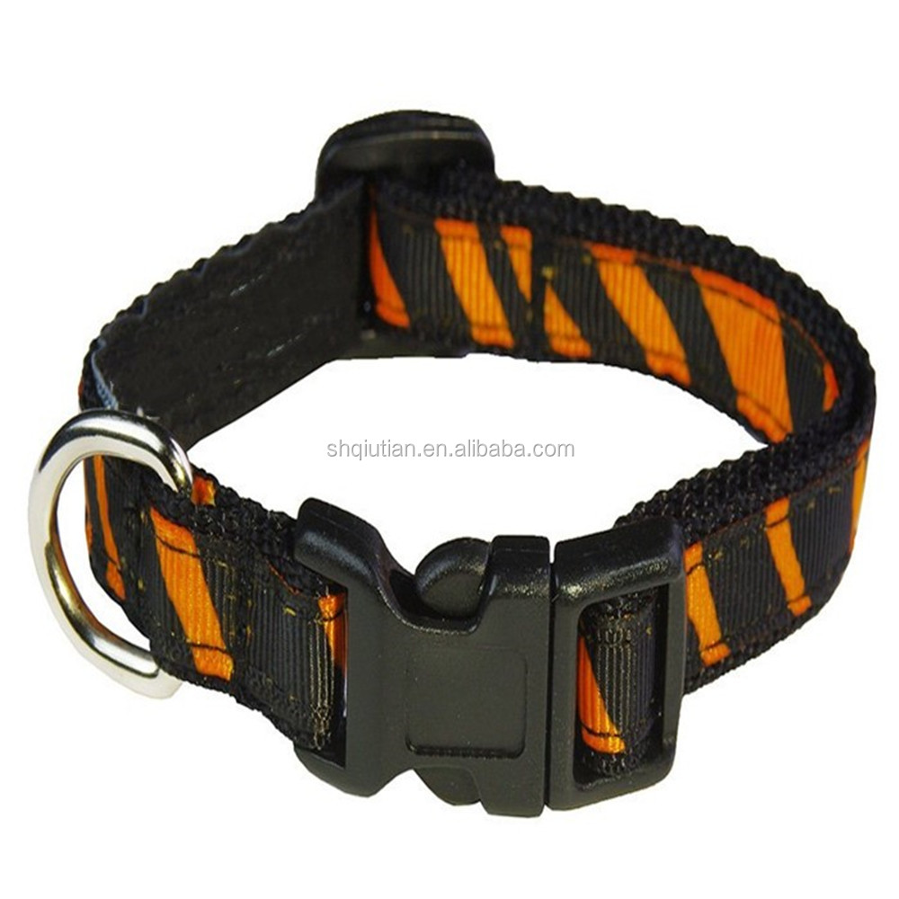 custom polyester dog lead collar