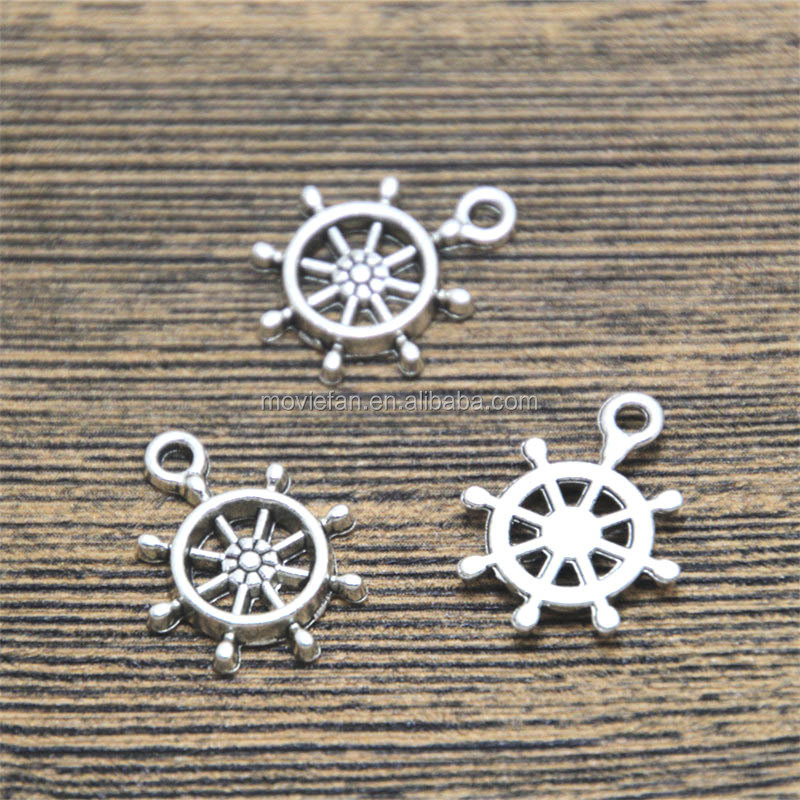 Rudder Sailing Charms Antique Tibetan silver Rudder Sailin Charms Antique Tibetan silver Rudder Sailing Charms pendants 19x15mm
