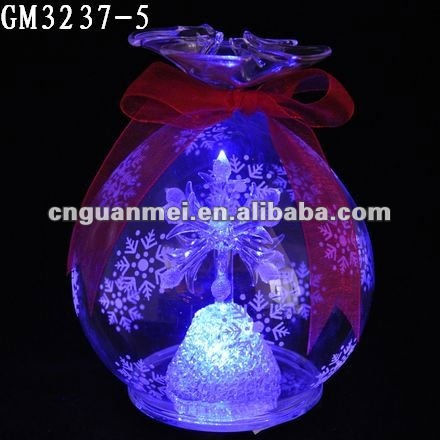 candy-shaped christmas glass ball with led light