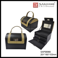 Dongguan 10 years experienced factory customized beauty pu leather cosmetic case