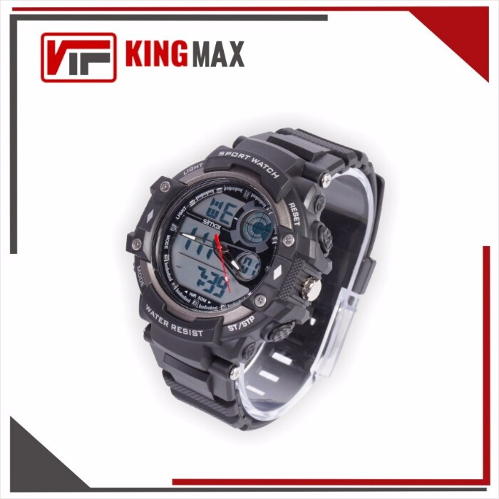 5 ATM Wristwatch Analog Digital Black Outdoor Sports Wrist Watch Supplier