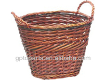 Eco-friendly cheap small wicker baskets with handles cheap wicker baskets with lid