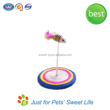 Cat Pet Products Natural Sisal Catch Scraper Mouse Spring Toys