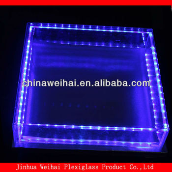 lighted acrylic cake stand/acrylic cake stands with lights