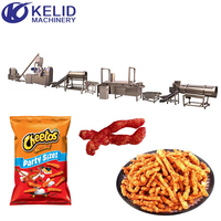 Automatic Kurkure Cheetos Corn Curl Nik Naks Snacks Food Extruder Making Machine