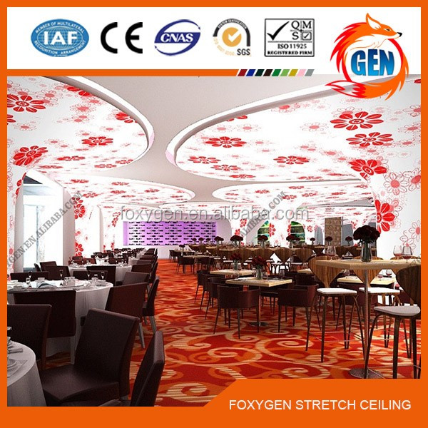 Factory supply false ceiling wall covers materials for stretch ceiling film