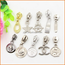 Zinc Alloy Custom Cord Zipper Puller Slider/ Zipper Slider Tabs/ Molded alloy Zipper Puller For Repair Replace clothing