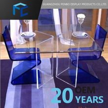 Exceptional Quality Acrylic Glass Dinning Table And Chair Sets