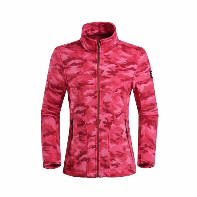 2018 Custom Camouflage Polyester Polar Fleece Jacket Women Varsity Jacket