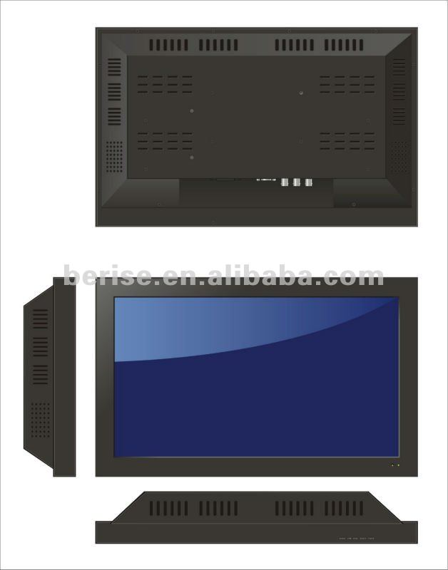 19 Inch LED backlight CCTV Monitor,can be used in medical or bus station,waterproof and dustproof function.