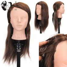 XISHIXIU Hair Cheap human hair mannequin head,Mixed Hair Training Head