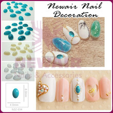 Natural stone beads for nail art colorful design oval resin stone