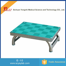 Wholesale Cheap Stainless Steel medical Padded Foot step Stool for Hospital