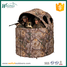 Folding double hunting tent blind chair for 2 person
