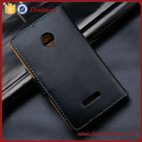 Factory price flip leather case for Nokia Lumia 435 back cover