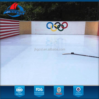 made of 100% UHMWPE material ,highly self-lubrication and maintenance free ice hockey synthetic ice
