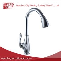 New design cheap brass promise kitchen faucet pull down